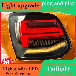 Car Styling Per VW Polo MK5 Fanali Posteriori 2011-2017 Dinamica LED segnale di girata Luce Posteriore di Stop A LED + Park + in movimento Indicatori di Direzione Della Lampada