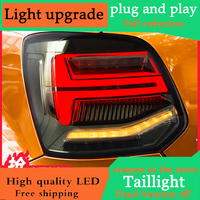 Car Styling For VW Polo MK5 Taillights 2011 2017 LED Dynamic Turn signal Rearlight LED Brake+Park+Moving Turn Signal Lamp