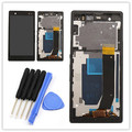 New For Sony Xperia Z LT36i LT36h LT36 C6603 C6602 L36H LCD Display Touch Screen Digitizer assembly+frame +tools,free shipping
