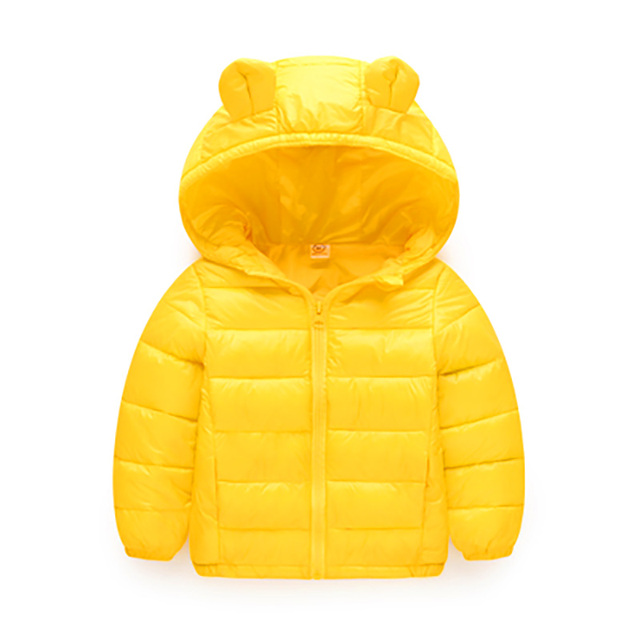 12c1fd713 New Children Cotton Feather Padded Jacket Thin Small Baby Boy Autumn ...