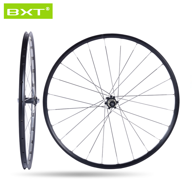 BXT 27.5er 29er MTB Mountain Bike Wheelsets 4 Bearing Hub Bike Parts Bike Aluminum Alloy Wheel 29Sets 28Holes Cycling Wheels wellgo aluminum mountain bike pedals double du bearing mtb bicycle pedals 112 9 111 3 21mm anodizing coloration cycling parts