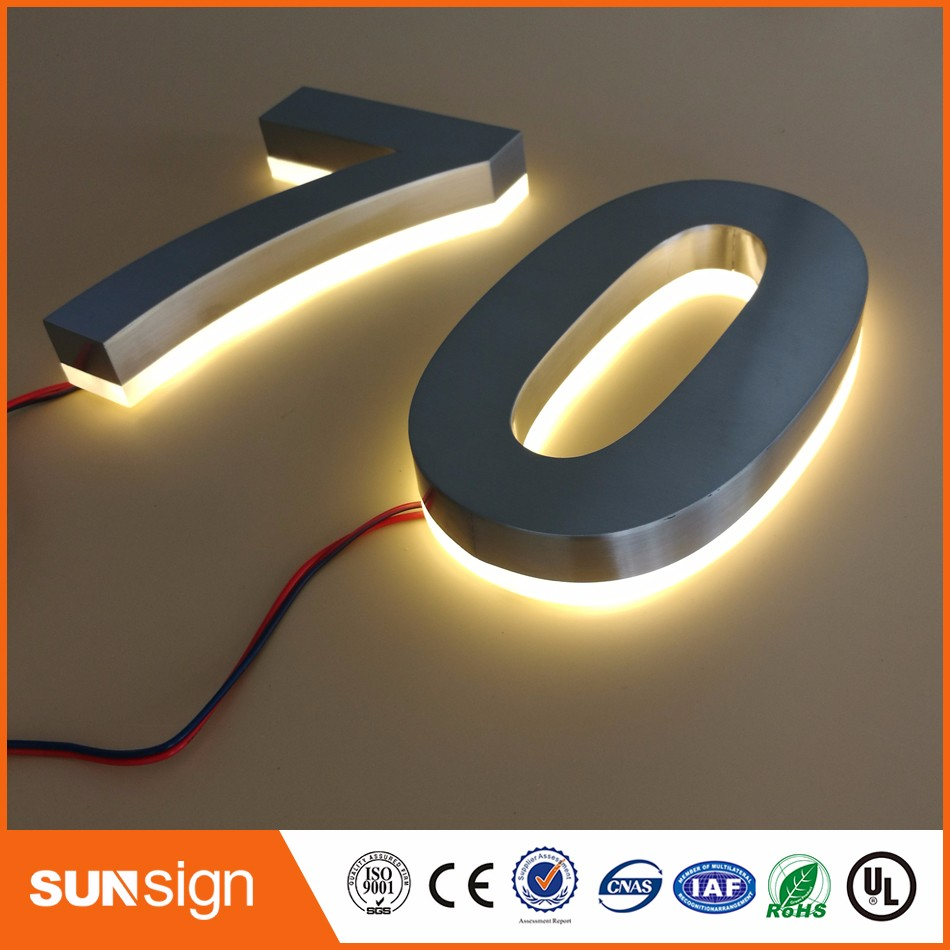 Online Get Cheap Modern Stainless Steel House Numbers Aliexpress