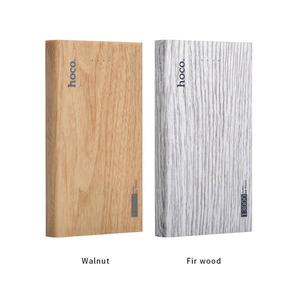 Hoco de madera banco de la energía 13000 mah tesoro de carga adecuado para iphon