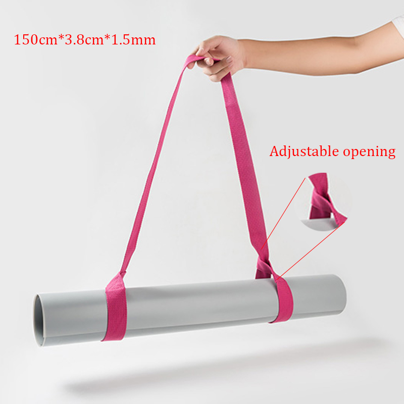 Adjustable Yoga Mat Belts Carrier Tie Rope Strap Yoga Bundle Exercise Yoga Fitness Yoga Accessories Pilates Mat Strap