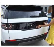ABS Chrome Gloss Black Rear Tail Decoration Frame Cover Trim For Land Rover Discovery Sport 2015-2017 Car Styling black dark ash wood grain abs chrome trims interior cover trim frame decoration car styling for land rover discovery sport 15 17