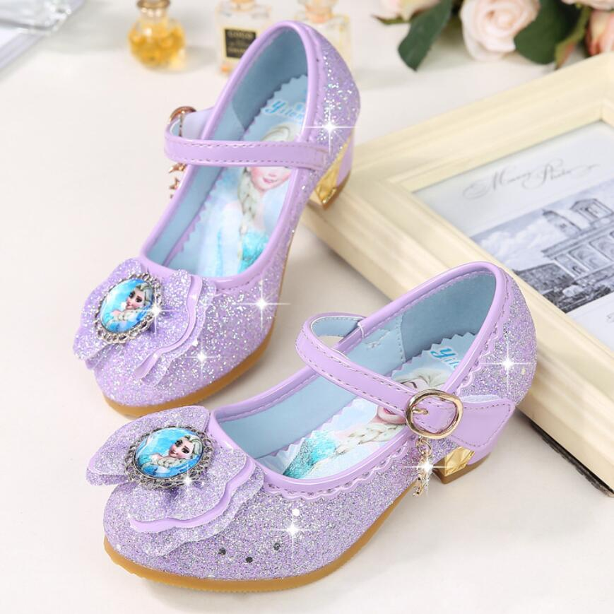 KKABBYII Girls Sandals Elsa Princess Shoes Elegant Dance Party Wedding Shoes Chaussure Enfants