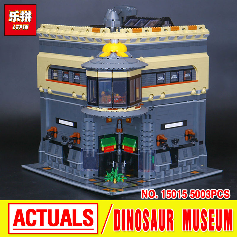 LEPIN 15015 City Street  The Dinosaur Museum MOC Model Building Kits  Combination Brick Toy Educational Toys Gifts boys girls