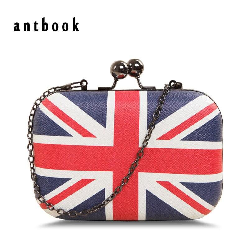 2d5d39b16d Freeship New 2017 Fashion Uk England Flag Printing Women Clutch   Vintage  Messenger Bag Shoulder Bag