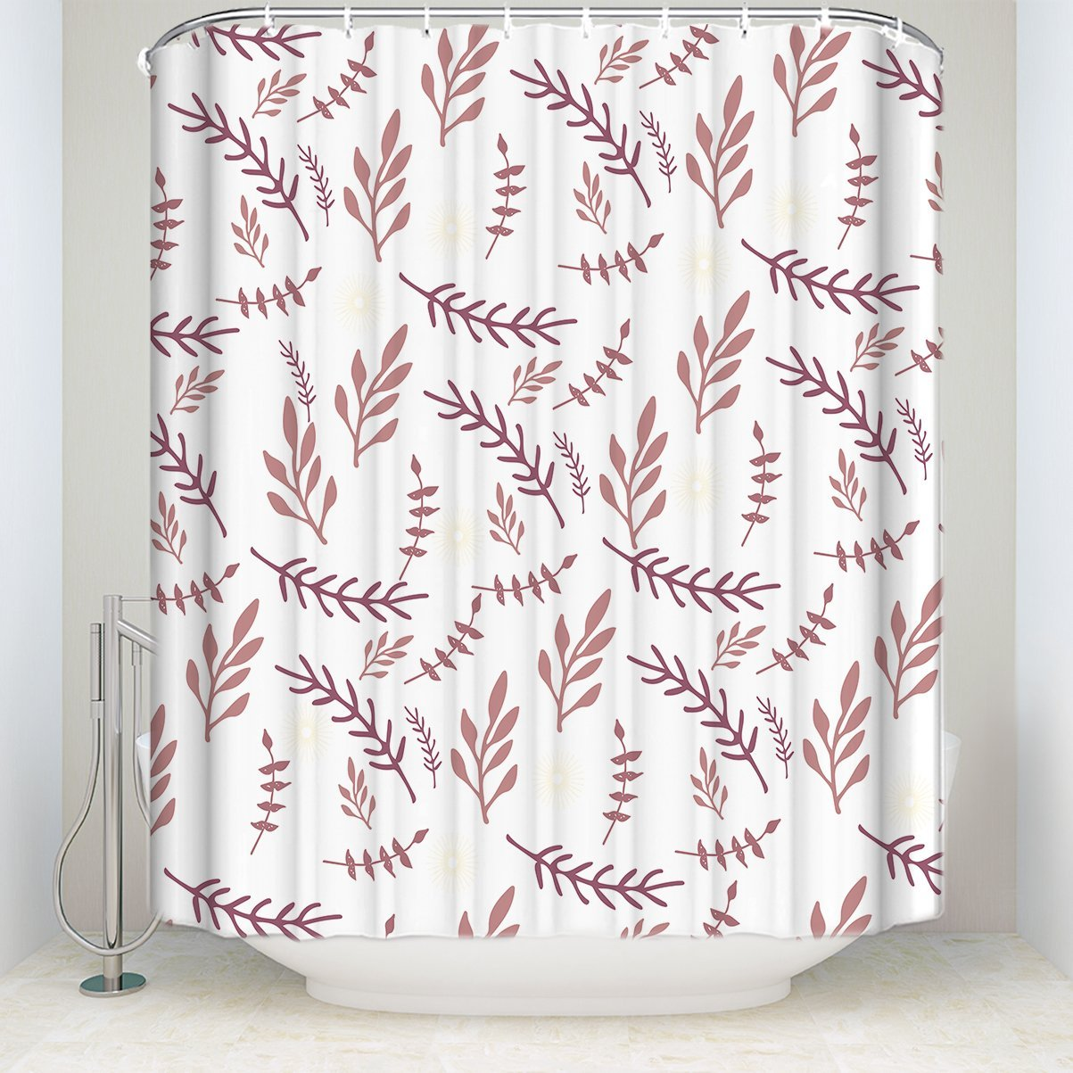 Tree Branches Shower Curtain Rustic Style Bathroom Decor Natural Polyester Fabric Shower Curtains