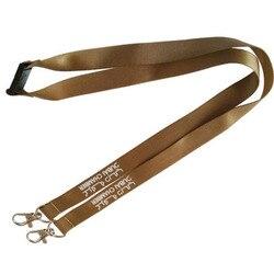 100 pcs/lot lanières personnalisées 20mm * 900mm longes en Nylon une couleur un côté sérigraphie lanière clé ID Badge support pour téléphone corde