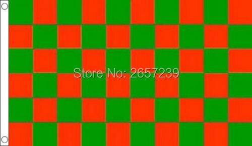 BLACK /& RED CHECK 2x3ft Flag Polyester