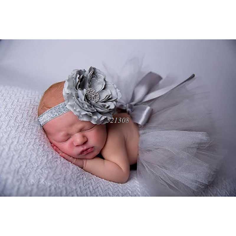 2016 Новинка цветок Новорожденный ребенок юбка-пачка и соответствующие оголовье, набор пушистый Юбки-пачки для девочек детские Подставки для фотографий подарок душа