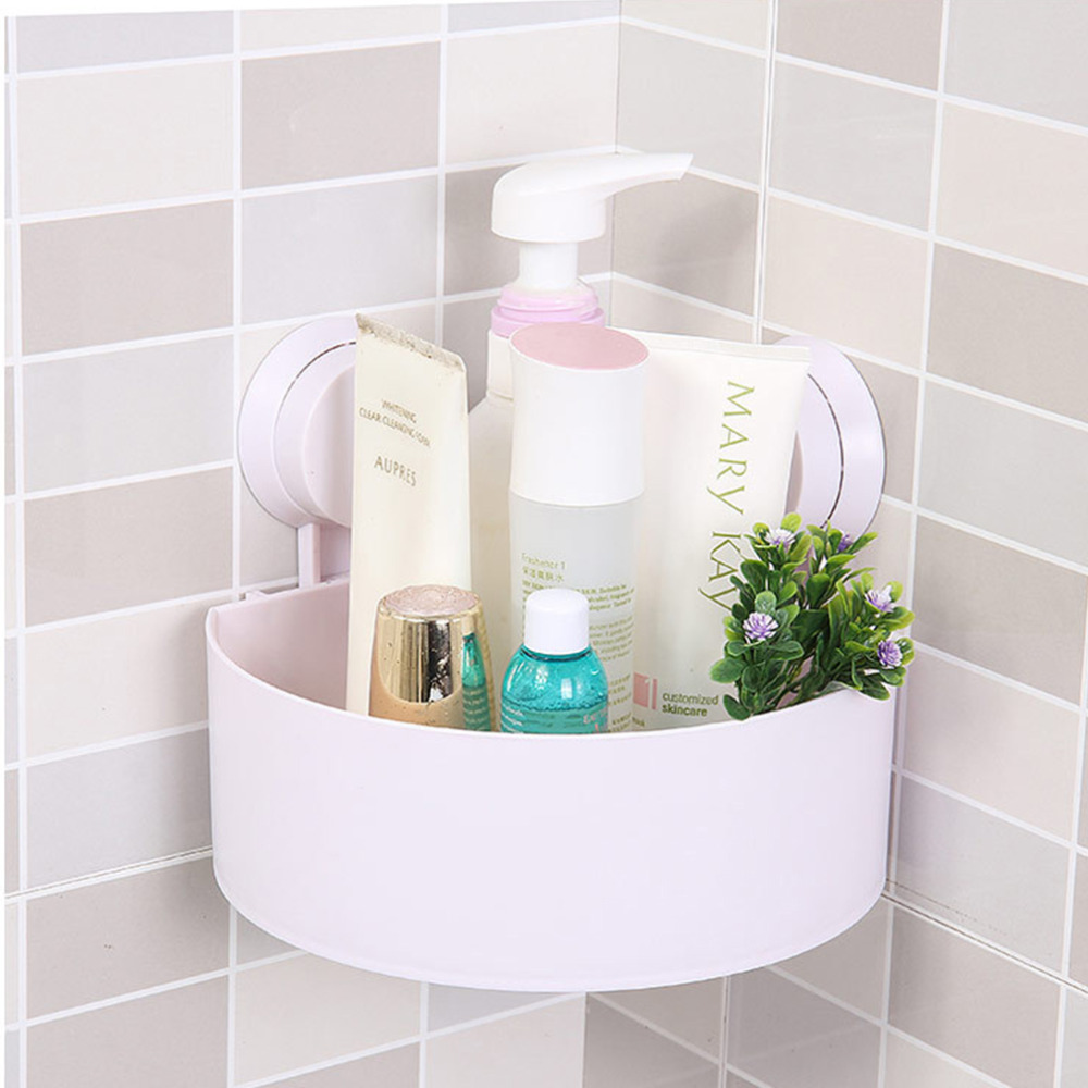 Lovely Bathroom Corner Storage Rack Organizer Shower Wall Shelf With Suction Cup Hot Search China