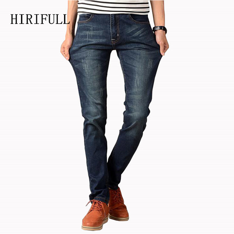 Jeans Men 2017 New Arrival Fashion Brand High Quality Straight Jeans Pants Casual Scratched Denim Trousers Slim Fit Jeans Male hot new arrival mens jeans white hole jeans beggar style pants male taper straight slim high quality men pants plus size mb324