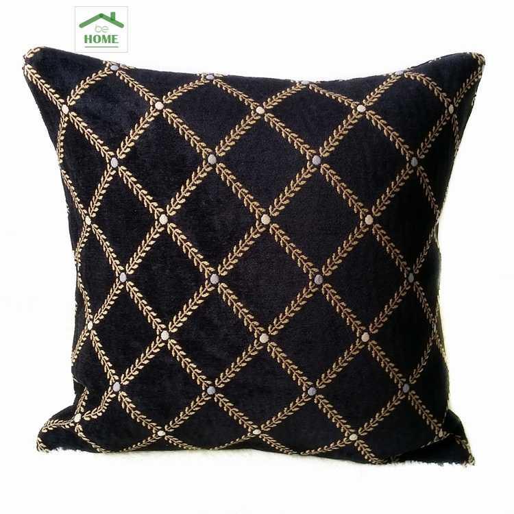 gold soft chenille cushion cover 45cm x