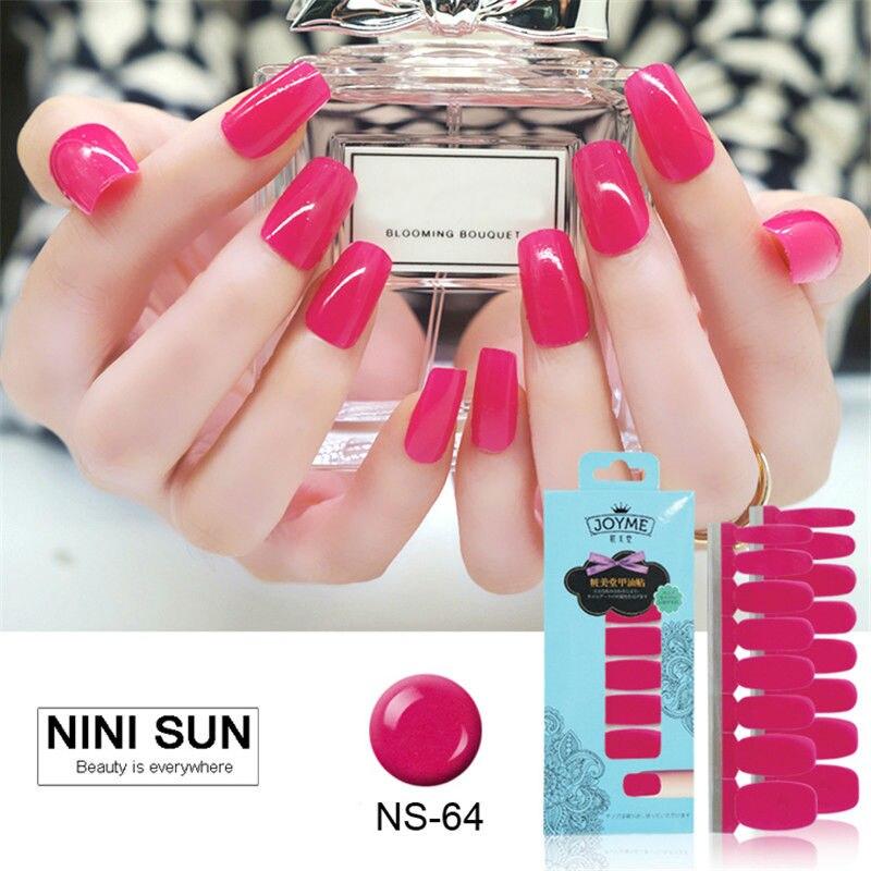16pcs Nail Art Stickers UV Gel Polish Nails Wraps Strips 100% Nail ...