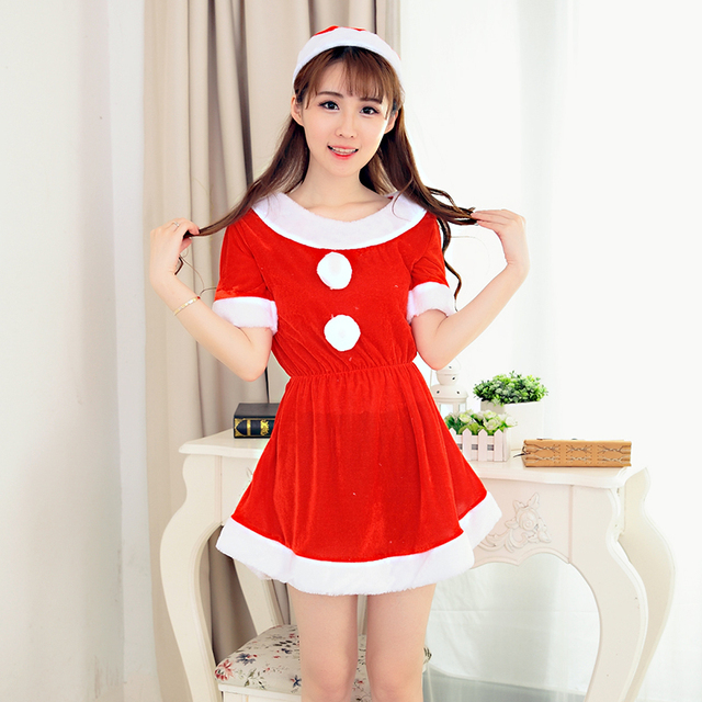 women costume cosplay suit christmas outfits red velvet costume santa claus x27