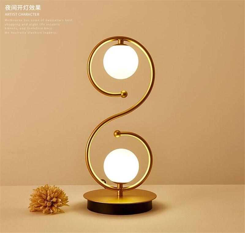 L86-Simple nordic casa lâmpada de mesa de
