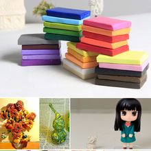 2016 New 24 Pcs Colorful Fimo Effect Polymer Clay Blocks Soft Plasticine Random Color