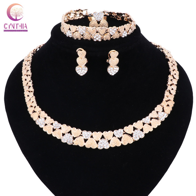 AfricanBeads African Costume Beads Jewelry Set,Wedding Bridal Gift Women Statement Necklace Sets