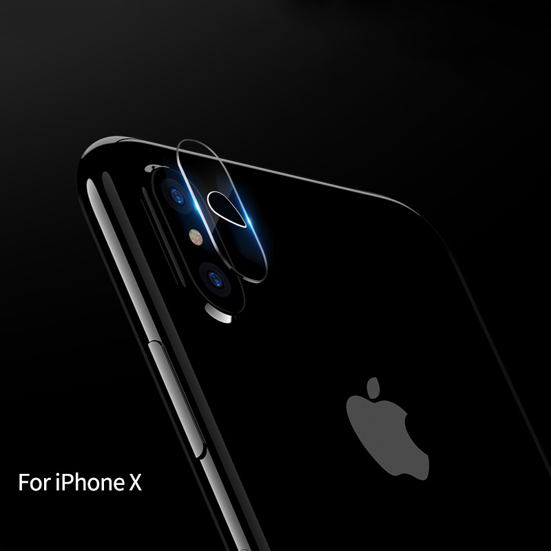 10pcs 7H Camera Lens Screen Protector For iphone X Flexible Back Rear Transparent Tempered Glass 2.5D Full Cover Film Protector