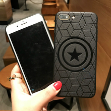 Marvel Avengers Captain America Shield Superhero Case for iPhone 8 7 6 6S Plus X Xs Max Xr Rubber Ironman Comic capinhas Cover