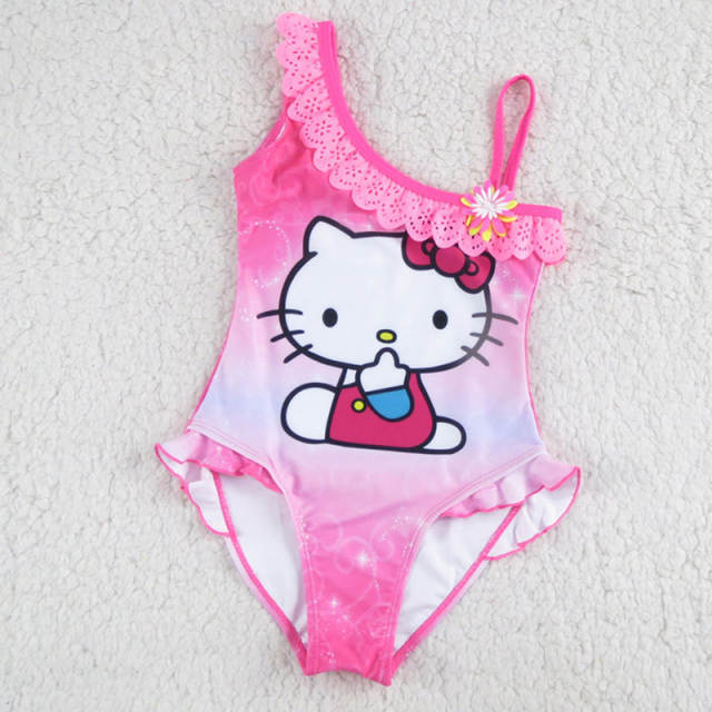 9a7aaaff84 Online Shop New Hello Kitty Girl s Swimsuit For Children Swimwear One Piece Swimming  Suit Kids Brand Clothes Summer Beach Wear SW903-CGR1
