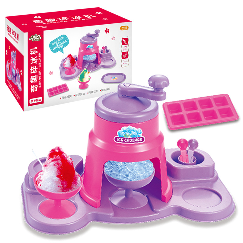 Mini Baby Pretend Play Kitchen Toys Set Cartoon Ice Crusher Children Classic Toys Simulation Ice Cream Smoothie Machine Kids Toy baby toys