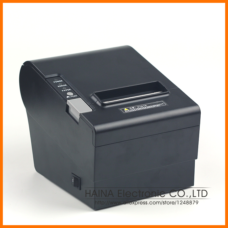 Parallel and USB Interface 80MM Thermal Receipt Printer, 250mm/s High Speed POS Printer Auto Cutter Support Logo printing 300 mm s print speed black 80mm pos thermal receipt printer auto cutter cut windows2000 xp vista 8 10 linux usb ethernet