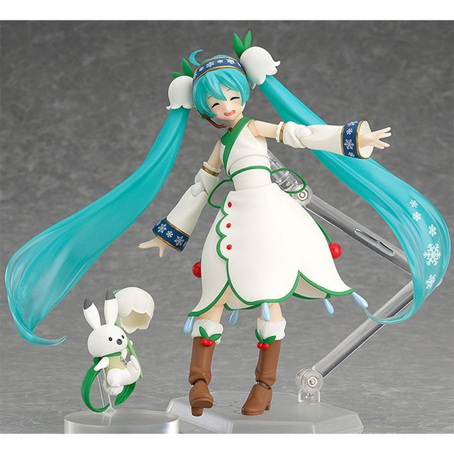 Anime Idol 2015 Figma 024 Hatsune Miku snow in summer 13cm pre-painted pvc action figure Movable Model Collection Toys