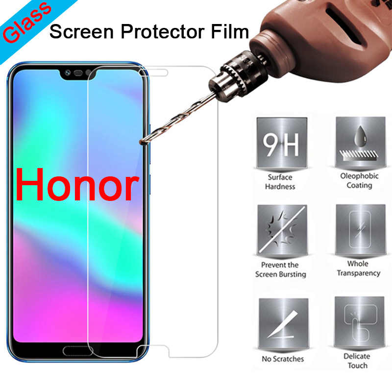 Protective Phone Front Film for Huawei Honor 8C 7C Screen Protector HD Toughed Tempered Glass for Honor 8A 7A 6A Pro 5A 4A