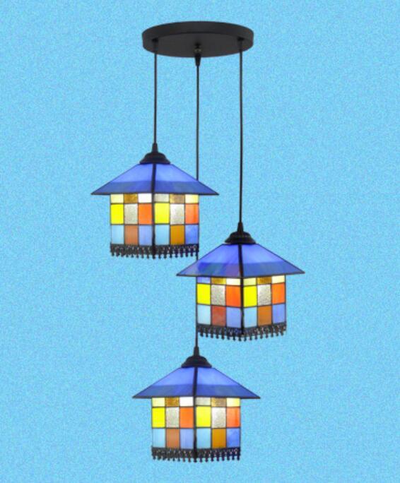 Creative personality house children room pendant light European style Mediterranean style restaurant bar pendant lamp DF10