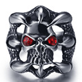 Punk fashion magic Talon titanium skull ring finger silver ring Halloween male Ladies Stainless steel jewelry
