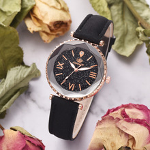 New Fashion Simple Leather Women Watches Ladies Fashion Starry Sky Casual Dress Quartz Watch Female Gift Clock  Relogio Feminino цена