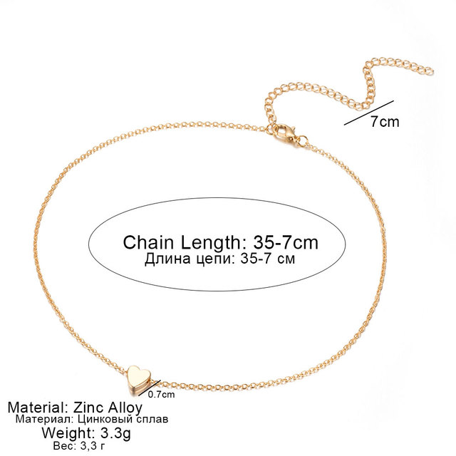 Gold Silver Chain Small Love NECKLACE PENDANT