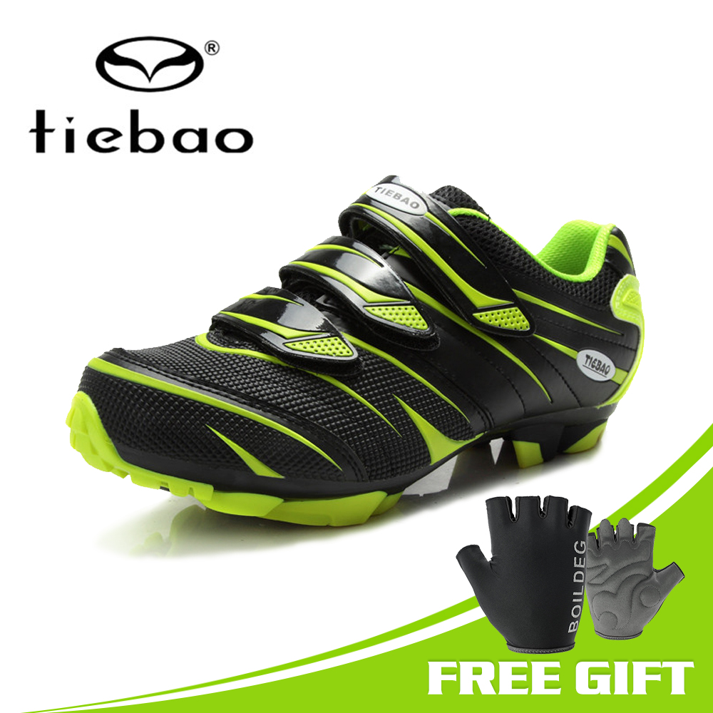 TIEBAO Professional Cycling Shoes Mountain Bike MTB Shoes Men Mountain Bike Biking Sneakers Cycling Men Shoes Mtb Sapata De Bike-in Cycling Shoes from Sports & Entertainment    1