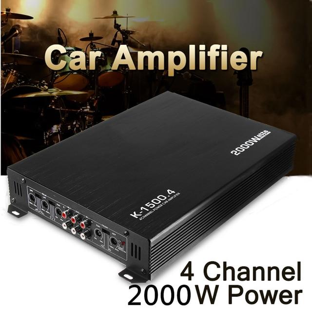 Best Offers 2000 Watt 4 Channel Car Auto Audio Amplifier Power Stereo Amp Aluminum DC 12V Car Amplifier Car Sound Stereo
