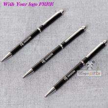 Black lacquer barrel the latest custom logo design free of charge for you simply twist pen will be able to start writing