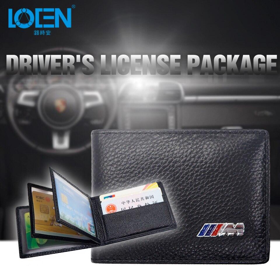 Car Driving License Bag Credit Card Holder Driver License Package Key Purse Wallet Case For BMW E90 F10 F30 E34 E30 E53 X5 X1 X3