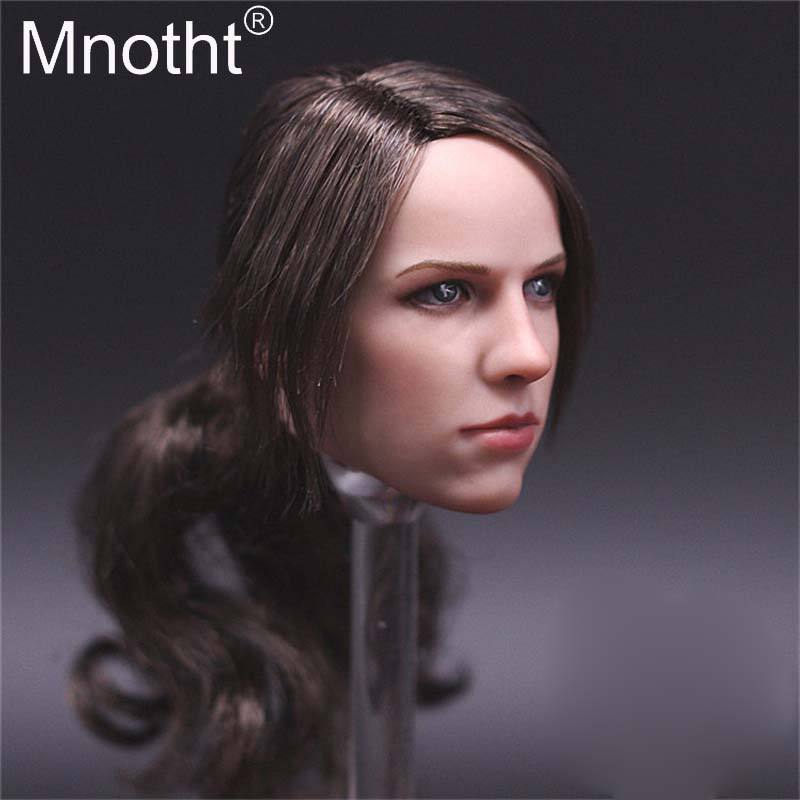 1/6 The Sniper Quiet Head Sculpt with Long Hair Version Head Carving Model Toys for Female Action Figure Hobbies Collection
