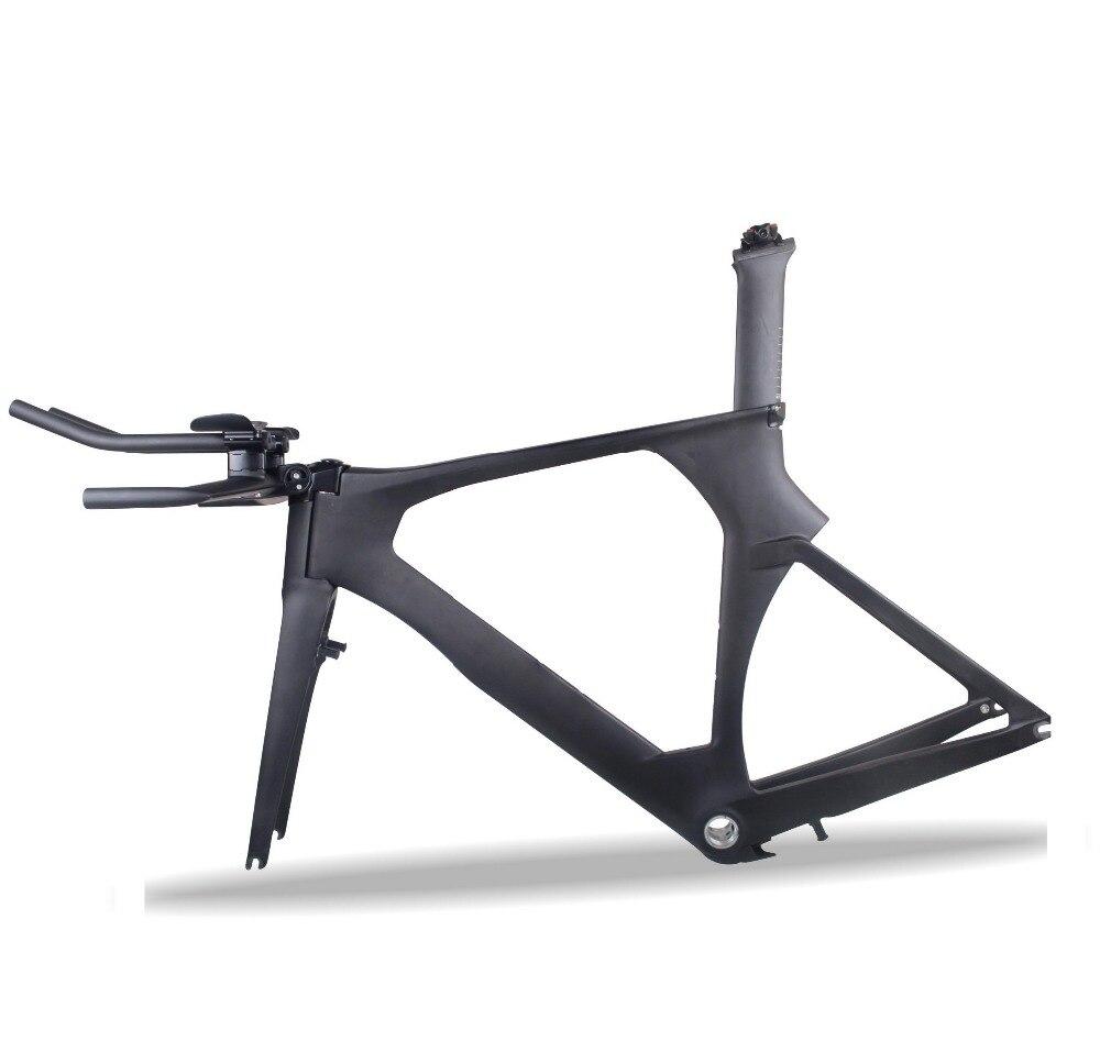 2018 MIRACLE Aero Carbone Triathlon Cadre Di2 TT 700c cadre de vélo en Carbone UD mat oem cadre d'essai de temps de Carbone avec frein TRP