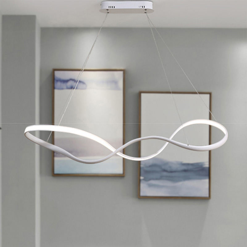 NEO Gleam New Modern led Pendant Lights For Dining Room Living Room Kitchen Room Hanging White