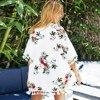 CUPSHE Chiffon Floral Print Tassels Kimono Bikini Cover Up Swimsuit Women 2020 Summer Beach Bathing Suit Beachwear Tunic Shirt 1