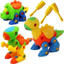 Montessori Childrens nut combination Nut dinosaur toy  screw disassembly assembly baby plastic animals