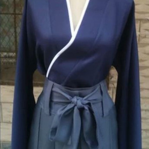 Image 3 - Rurouni Kenshin cellat Himura Kenshin Kimono Kendo Suit Cosplay kostüm