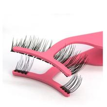 Magnetic Eyelashes Handmade 3D Soft Mink Hair Eye Lashes Natural False Magnet with Tweezers