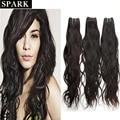 7a onda natural del pelo virginal brasileño pelo humano de remy de armadura brasileña del pelo lía 4 unids lot spark pelo ¡ envío libre n108