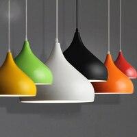 Dia 24cm 6 color aluminum lampshade luminaire pendant lights modern pendant lamp for restaurant bar shop lighting fixture