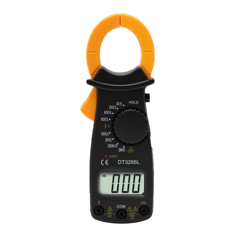 NEW DT3266L Digital Clamp Meter Multimeter Voltage Current Resistance Tester H15 clamp multimeter dt3266l lcd display digital multimeter handle ac voltage current resistance tester dt3266l multimeter tester