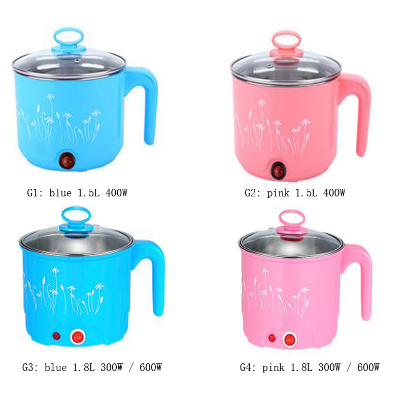 VOSOCO Electric Hot pot multifunctional mini electric boiling pot of small bedroom electric kettle 600W stewing chafing dish cukyi 110v 450w multifunctional electric boiler student dormitory pot noodle electric kettle hot pot 1 2l